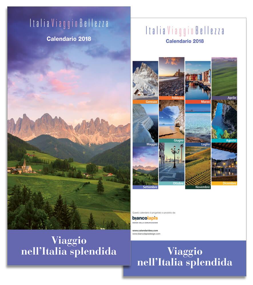 Calendario 2018 ItaliaViaggioBellezza. Biancolapis