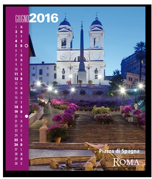 Calendario RomaColoriAtmosfere 2016. Biancolapis Design
