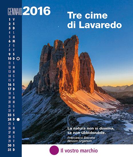 Personalizzazione n. 5 Inserimento del marchio in copertina e in ogni pagina del calendario