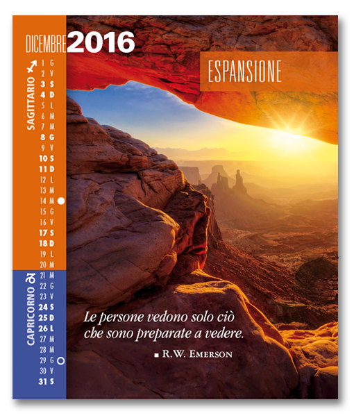 Calendario Astrologico SegniSimboliParole 2016. Mese di Dicembre 2016