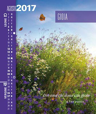 Calendario SegniSimboliParole 2017 Mese Agosto