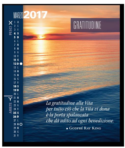 Calendario Astrologico SegniSimboliParole 2017. Mese di marzo 2017
