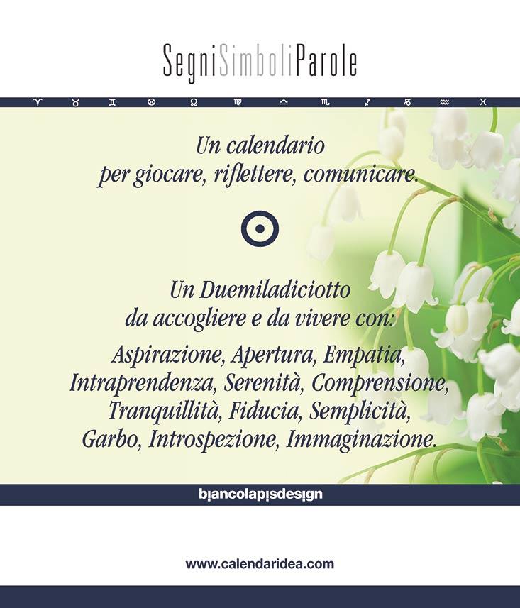 Calendario 2018 SegniSimboliParole. Copertina retro