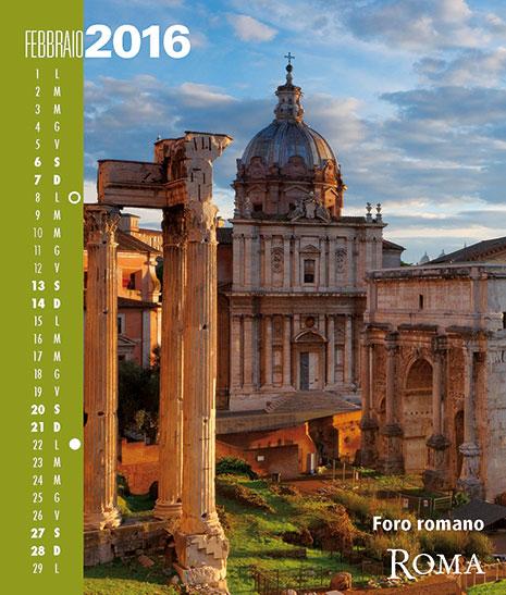 Calendario 2016 RomaColoriAtmosfere. Febbraio
