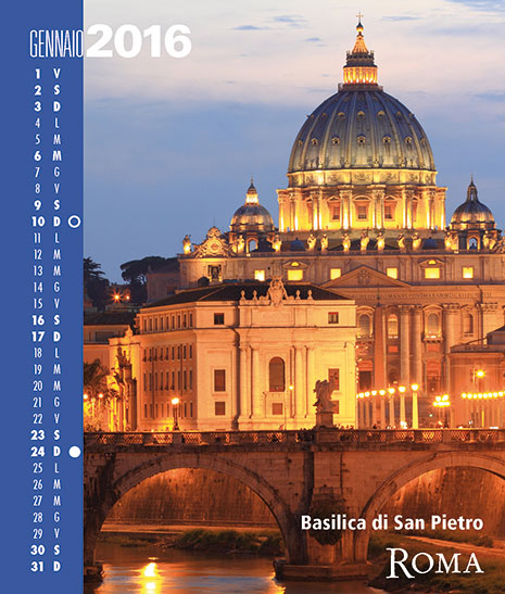 Calendario 2016 RomaColoriAtmosfere. Gennaio