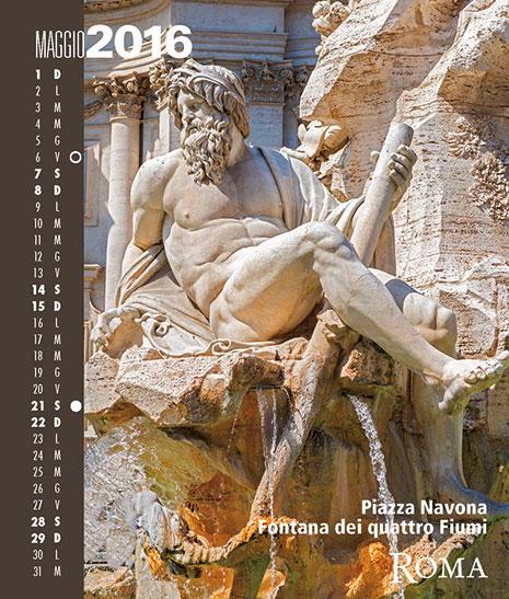Calendario 2016 RomaColoriAtmosfere. Maggio