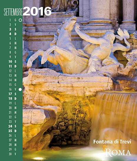 Calendario 2016 RomaColoriAtmosfere. Settembre