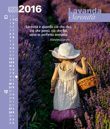 Calendario FioriEssenzeParole 2016 Agosto