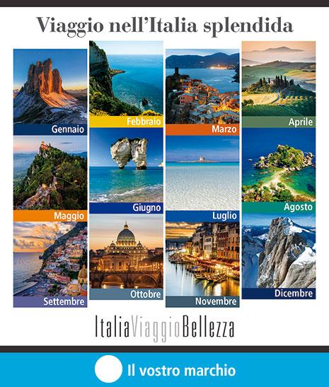 Calendario copertina ItaliaViaggioBellezza personalizzazione