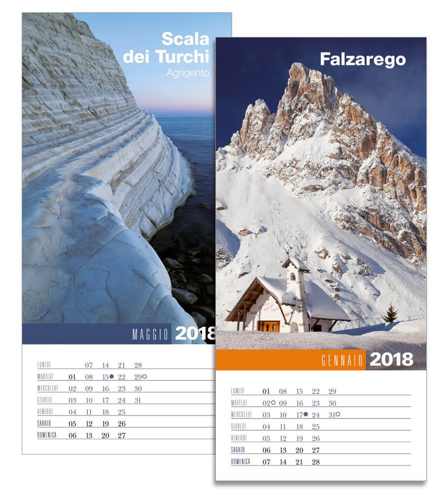 Calendario da parete 2018 Biancolapis. Mesi gennaio maggio
