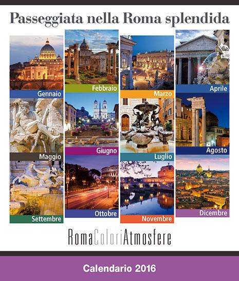 Copertina Calendario RomaColoriAtmosfere