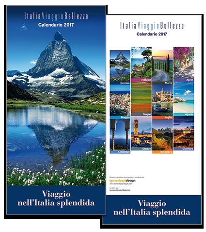 Calendario ItaliaViaggioBellezza 2017. Biancolapis Design