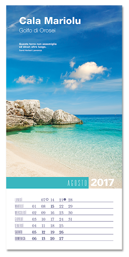 Calendario ItaliViaggioBellezza 2017. Biancolapis design
