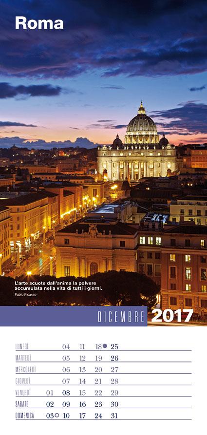 Calendario da parete ItaliaViaggioBellezza 2017 agosto