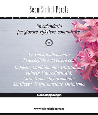 Calendario SegniSimboliParole 2017. Biancolapis Design.