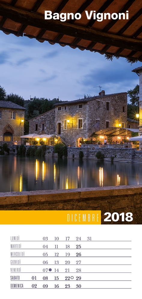 Calendario 2018 Biancolapis - Dicembre