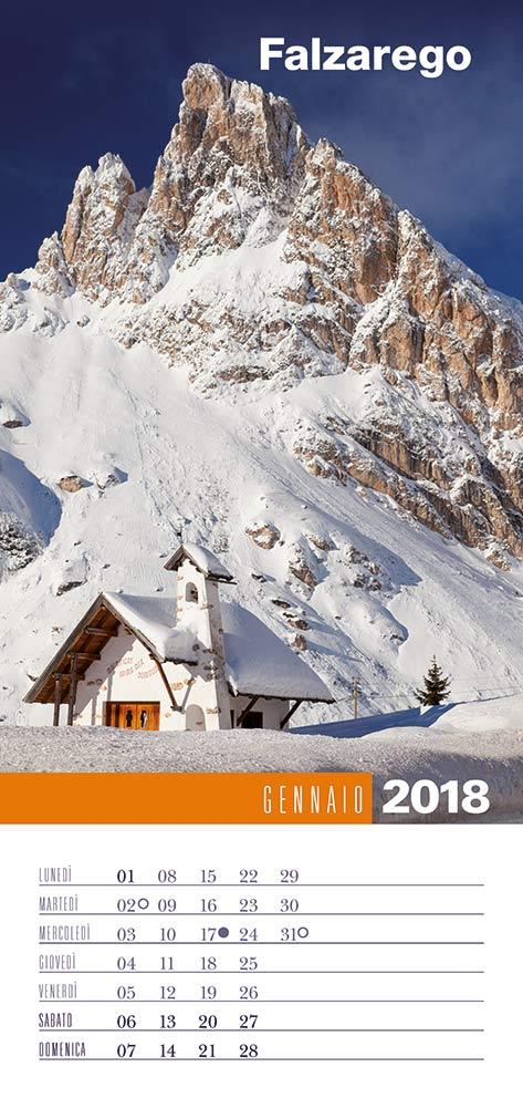 Calendario 2018 Biancolapis - Gennaio