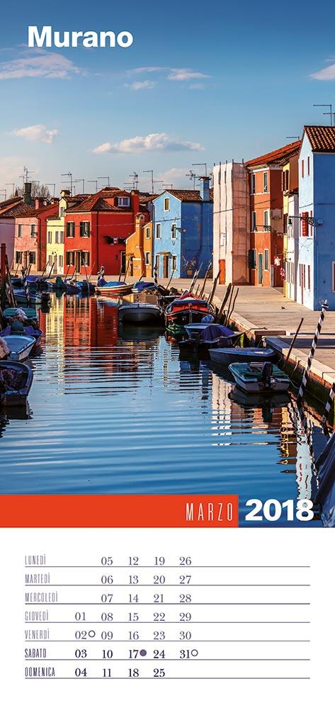 Calendario 2018 Biancolapis - Marzo