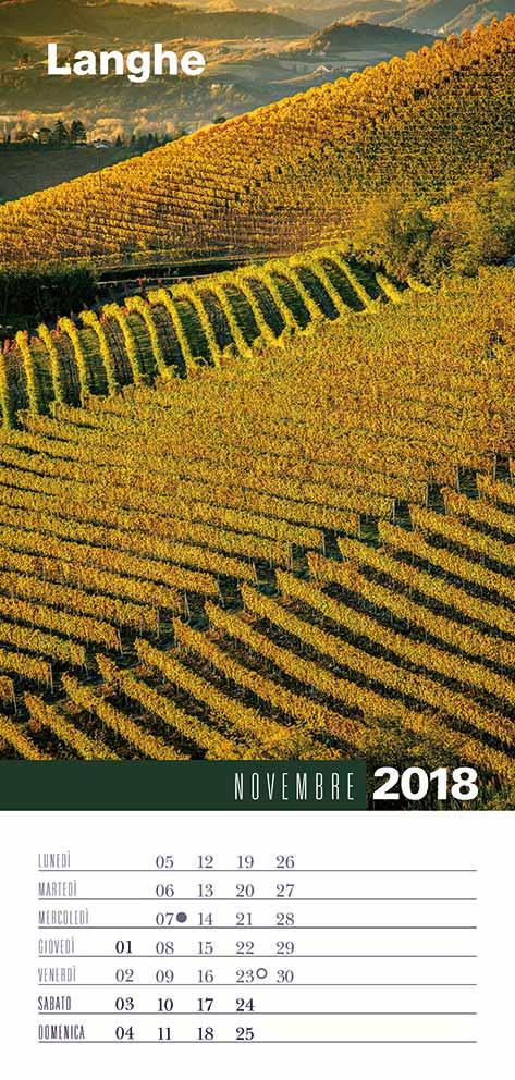 Calendario 2018 Biancolapis - Novembre