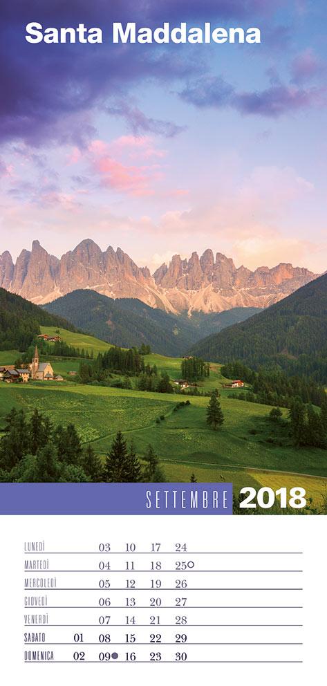 Calendario 2018 Biancolapis - Settembre