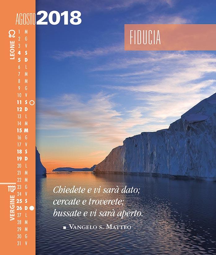 Calendario SegniSimboliParole 2018. Agosto 2018
