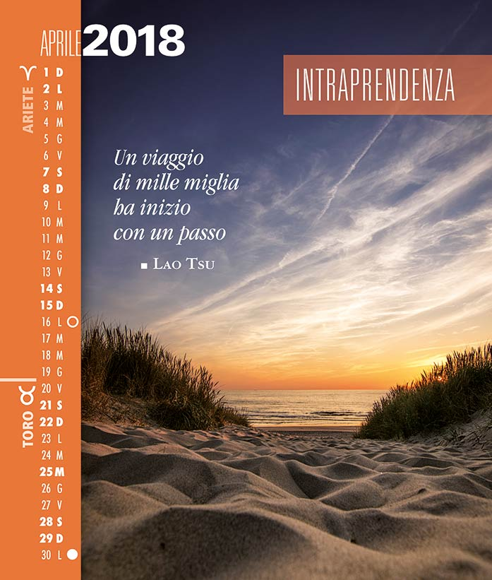 Calendario SegniSimboliParole 2018. Aprile 2018.