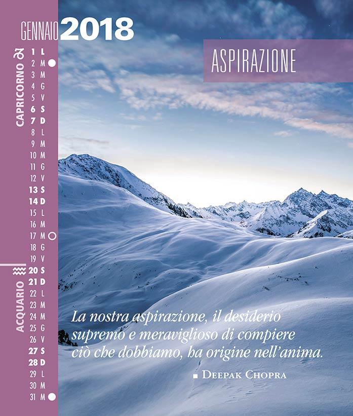 Calendario SegniSimboliParole 2018. Gennaio 2018