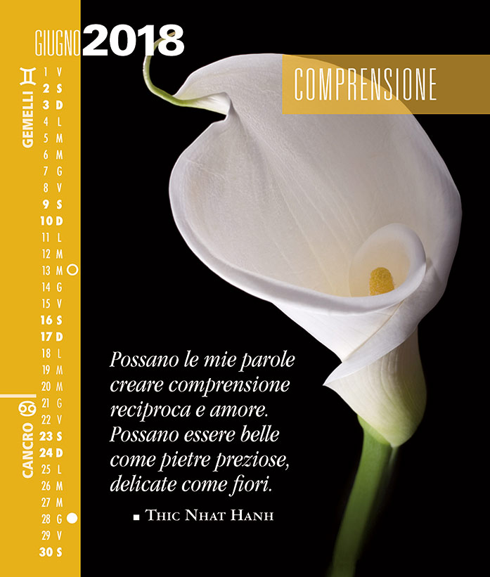 Calendario SegniSimboliParole 2018. Giugno 2018