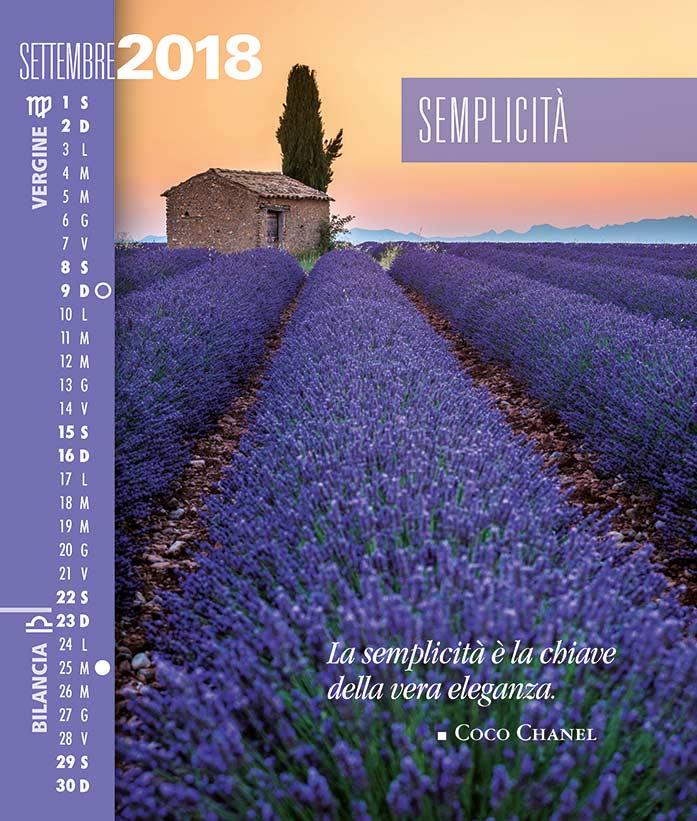 Calendario SegniSimboliParole 2018. Settembre 2018